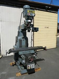 Large Doall Vertical Milling Machine 12x50 Table 40 Taper With Dro Riser Block