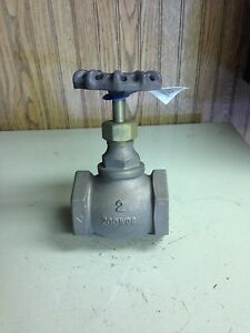 2 200 Wog Threaded Brass Globe Valve