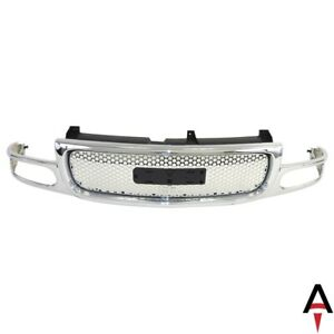 For Gmc Yukon Xl 1500 Yukon Front Grille Gm1200510 Chrome 15764319 New