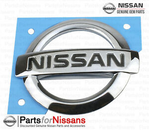 Genuine Nissan 2002 2004 Frontier Rear Tailgate Handle Emblem New Oem