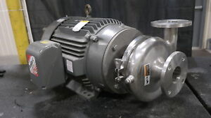 Waukesha U2085 8 5 Impeller Stainless Pump W 50hp Motor New Surplus