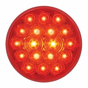 4 Red 18 Led S t t Lights W Grommets four Each Semi Truck