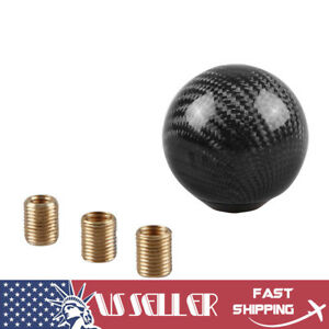 Universal Carbon Fiber Gear Shift Knob Round Ball Shape Fit Manual Transmission