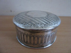 Antique Wilcox Silver Plate Hinged Trinket Jewelry Box 2 X 4