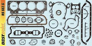 Cadillac 429 1964 1967 Full Gasket Set Best 3812s Rear Main Seal