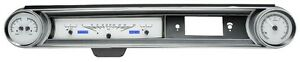1965 Chevrolet Impala Dakota Digital Silver Alloy Blue Vhx Gauge Dash Kit