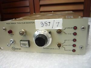 Varian Wide Range Thin Film Deposition Thickness Monitor item 357 7