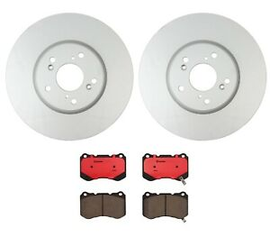 Set Of 2 Front Rotors Brembo Pads For Acura Tl Type s W Brembo Brake System
