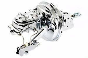 67 69 Chevy Camaro Chrome 9 Booster W Master Cylinder W Proportioning Valve