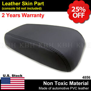 Leather Armrest Center Console Lid Cover Fits For Ford Escape 2001 2004 Black