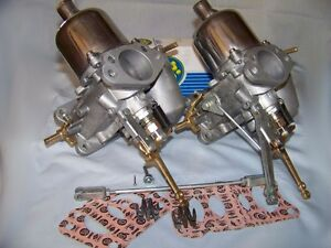 Triumph Tr3 Tr4 H6 Su Carburetor Set Professionally Restored