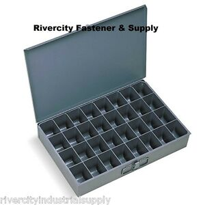 2 Large Metal 32 Hole Storage Bin Tray For Nuts Bolts 107 95