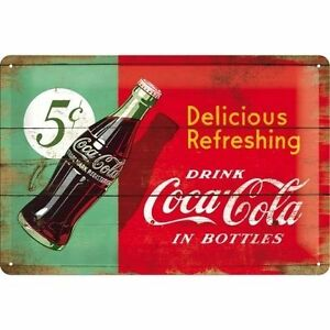 Coca Cola Metal Sign 5C - Embossed - Protected product - Size L