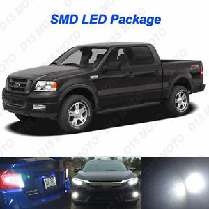 19 X White Led Interior Bulbs fog Reverse tag Lights For 2004 2008 Ford F150