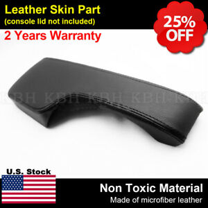 Fits Honda Civic 01 05 Center Console Armrest Lid Leather Cover Upholstery Black