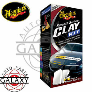 Meguiar s G1016 Smooth Surface Clay Bar Kit 2 Bars Clay Lubricant Towel