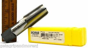 Brand New Morse Cutting Tools 36126 Hand Tap 1 2 14 Npt Tpr Pipe G 121904 Hss