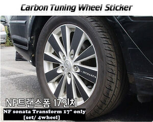 Carbon Tuning Wheel Mask Sticker For Hyundai Nf Sonata Transform 2007 09 17 only
