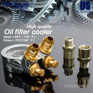Fit For Oil Filter Cooler Sandwich Plate Adapter An10 80 Deg 176 F Thermostat