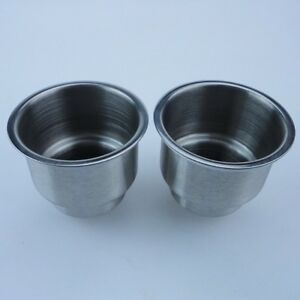 2pcs Stainless Steel Cup Drink Can Holder Marine Boat Car Truck Camper Yatch Rv