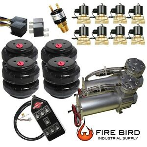 V 480c Air Compressors Pewter 1 2 Valves Air Ride 2500 Bags Blk 7 Switch Box