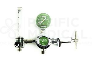 Datex Ohio Medical Oxygen Gas Flowmeter Regulator Valve Gauge O2 Yoke 50psi New