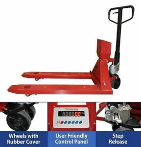 Dwp pj4400 Pallet Jack Scale Industrial Professional Shipping Truck Digital