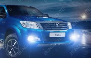 2014 2018 Toyota Hilux Invincible White Halo Fog Lamp Driving Light Angel Eye