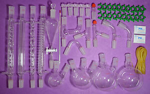 24 29 super Lab Glassware Kit organic Chemistry Laboratory Glassware Kit