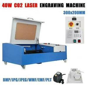 40w Usb Port Co2 Laser Engraving Cutting Machine Engraver Cutter W Wheels