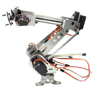 Fully Assembled 6 axis Mechanical Robotic Arm Clamp For Arduino Raspberry Mor