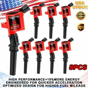 8 Pack Of Ignition Coil Dg508 For Ford E 150 E 250 E 350 Super Duty 4 6 5 4l V8