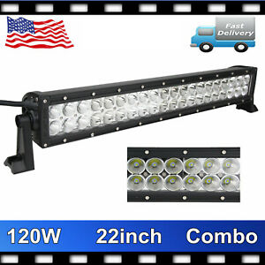 21inch 120w Cree Combo Led Work Light Bar Offroad Driving Lamp Suv Car Boat 4wd