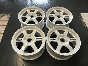 Jdm 15 Volk Rays Te37 Wheels Rims 4x100 Polished Rare Civic Eg Ek Em1 15 X 7