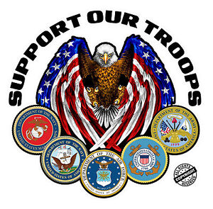 Support Our Troops Version 2 Decal Is 5x 5 In Size