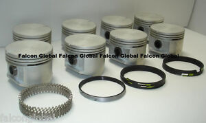 Plymouth Dodge Chrysler 383 Cast Pistons 8 Cast Rings 040 Silvolite 1960 71