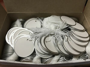 Lot Of 5 000 Tags Metal Rim String Attachment 1 9 16 Diameter White Thermal