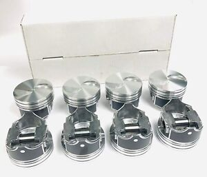 Ford 460 Hypereutectic Flat Top Pistons Std Bore Silvolite Pistons Only