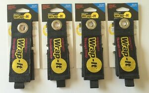 4 large Wrap it Heavy Duty Storage Straps To Hang Items On Hooks Pegboard