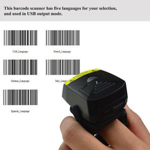 Barcode Scanner Bluetooth 1d Wearable Ring style Portable Fs01 For Ios Android