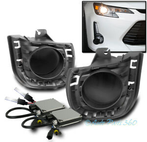 14 16 Scion Tc Bumper Driving Fog Lights Lamps Dark Smoke W 6k Xenon Hid Switch