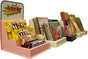 6 Multi purpose Retail store counter Plastic Display candy snacks books cd dvd