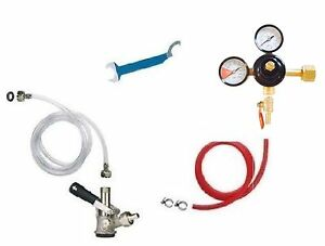 Beer Jockey Box Keg Single Faucet Kegerator Conversion Hose Keg Couplers Kit