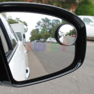 2pc Universal 2 Wide Angle Convex Rear Side View Blind Spot Mirror For Car Auto