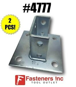 4777 p2073a Sq Eg Squared Post Base For Unistrut Double Channel qty 2