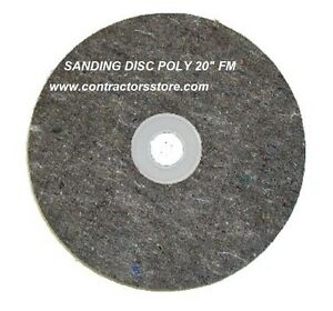 Floor Machine Prep Tool Sanding Disc Poly 20 Fm For Wood Concrete