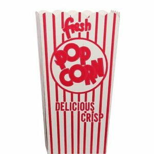 Case Of 500 44e Open Top Popcorn Box Cup Scoop Free Shipping