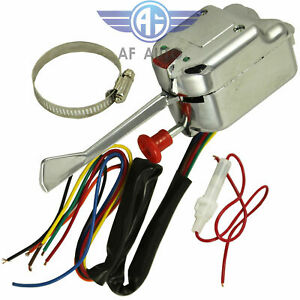 New 12v Universal Chrome Street Hot Rod Turn Signal Switch For Ford Buick Gm