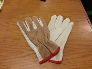 Lot Of 12 Pair Grain Drivers Split Back Glove Leather Small Work Glove 4714s