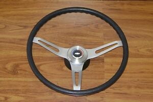 Comfort Grip Steering Wheel Kit Black Cushion 3 Spoke Camaro Chevelle Nova Elcam
